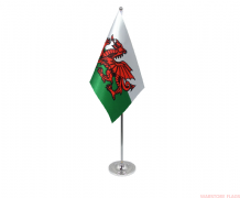 WALES - DELUXE SATIN TABLE FLAG